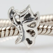 Hoobeads Gracefully Dancing Butterfly Authentic 925 Sterling Silver Charm Fits Pandora Chamilia Biagi Troll Charms Europen Style Bracelets
