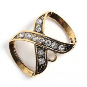 PendantScarf Rhinestones Simple Style Jewellery Scarf Clasp Bronze