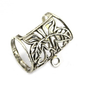 PendantScarf New Alloy Flower Style Jewellery Scarf Tube Slides Clasp