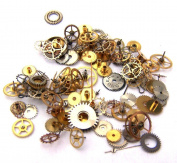 Steampunk Watch Parts - 100 small vintage mixed watch gears