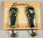 "Whimsiclay One-of-a-kind Handmade "" Seaside"" Ceramic Clip Earrings"