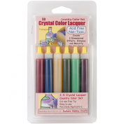 Brand New 3D Crystal Lacquer Colour Pens 6/Pkg-Country .150ml Brand New