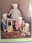 Plain Stitch Piglets - 28cm & 41cm - Doll and Clothes Pattern