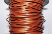 Round Leather Cord - *High Quality * 1mm, 1.5mm, 2mm - 3 to 6 Colours - 25 Metres Per Spool (1.5mm, Bronze
