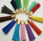 30pcs 51mm Suede Leather Tassel Fibre Fringe Tassel with Gold Copper Caps DIY Handmade bracelet Jewellery Accessories