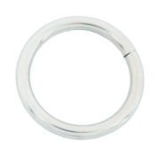 """Bluemoon 50 Pcs - 25mm 1"""" Metal O-rings Rings Non Welded"""