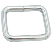 """Bluemoona 50 Pcs - 3/4"""" 19mm Non Welded Rectangle Rings Buckles Webbing for Straps, Bags, Purses, Belting, Ribbon"""