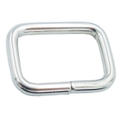 "Bluemoona 100 Pcs - 5/8"" 16mm Non Welded Rectangle Rings Buckles Webbing for Straps, Bags, Purses, Belting, Ribbon"