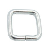 "Bluemoona 100 Pcs - 1/2"" 12mm Non Welded Rectangle Rings Buckles Webbing for Straps, Bags, Purses, Belting, Ribbon"