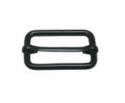 Tianbang Black 3.9cm Inside Length Rectangular Buckle with Sliding Bar for Loose Ring Pack 10