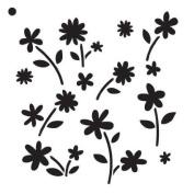 Flower Power - Pattern Stencil - 15cm x 15cm