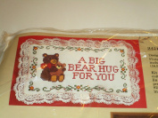 A Big Bear Hug For You 17cm x 22cm Counted Cross Stitch Kit