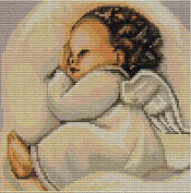 Luca Sleeping Angel Counted Cross-Stitch Kit