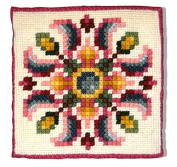 Candamar Designs Country Floral Quick Point Needlepoint Pillow Kit, 36cm x 36cm