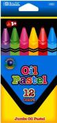 DDI 1037871 BAZIC 12 Colour Jumbo Oil Pastels Case Of 144