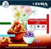 Lyra Non-Toxic Soft Poly-Crayon, Assorted Colour, Pack 24