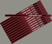 ezpencils - Personalised Metallic Red Round Pencil - 12 pkg - ** FREE PERZONALIZATION **