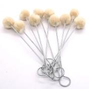 10 Pack Medium Wool Daubers by Stecksstore 3445-00 For Leather Dyes, Sealers