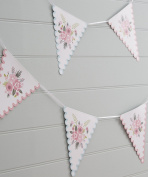 Ginger Ray Floral Design Pink & Blue Party Bunting - Floral Fancy