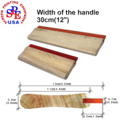 4pcs For Each Kinds Width Of Handle Water-based 65 Durometer Silk Screen Printing Squeegee (Water-based 30cm