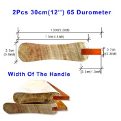 2pcs For Each Kinds Width Of Handle Water-based 65 Durometer Silk Screen Printing Squeegee (Water-based 30cm