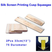 2pcs For Each Kinds WOiliness 75 Durometer Silk Screen Printing Cusp Squeegee (Oiliness 33cm