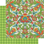 Graphic 45 Bohemian Bazaar 12x12 Scrapbook Paper - Vivid Splendour