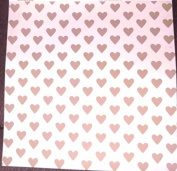 12x12 Paper - Gold Hearts - 4 Sheets
