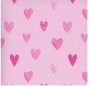 Mambi 12x12 Scrapbook Paper - Hearts Style #2 - 6 Sheets