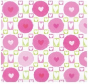 Mambi 12x12 Scrapbook Paper - Hearts Style #1 - 6 Sheets