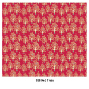 Craft Consortium Festive Decoupage Paper Pack of 3 - 028 Red Trees