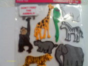 3d Fun Foam Zoo Animal Stickers