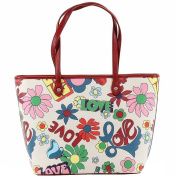 Love Moschino Women's Love Print Large Tote Handbag