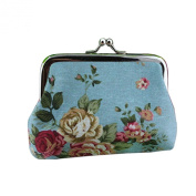 New Fashion Women Lovely Style Lady Wallet Hasp Rose Flower Purse Clutch Bag