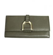 Gucci Women's Continental Clutch Greenwich Leather Wallet 256940