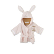 Baby Aspen Baby's Bath Time Bunny Hooded Spa Robe, Pink, 0-9 Months