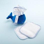 Baby Aspen My Little Wash Whale Three-Piece Bath Set, Blue/White, 0-6 Months
