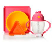 Lollaland Four-Piece Lollacup & Mealtime Set w/ Replacement Straw Pack