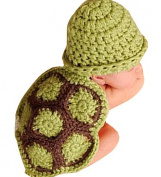 Jubileens Baby Girl Boy Turtle Tortoise Knit Crochet Clothes Beanie Hat Outfit Photo Props