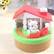 Soledi® Cute Itazura Automatic Stealing Coin Cat Mouse Coins Penny Cents Piggy Bank Saving Box Money Box Kids Children Present Gift