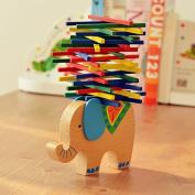 Baby Toys Educational Elephant Balancing Blocks Wooden Toys Beech Wood Balance Game Montessori