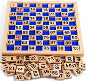 Montessori Education Wooden Toys 1-100 Digit Cognitive Math Toy Teaching Logarithm Version