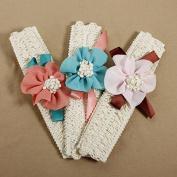 Baby Girls Lace Flower Headband Infant Elasticity Headwear