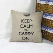 DDU(TM) 1Pc Grey Crown Print Home Sofa Throw Pillow Cushion Cotton Linen Case Cover Pillowcase