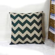 HuntGold 1X Wavy Stripes Home Sofa Car Decorative Throw Pillow Cushion Case Cotton Linen Cover