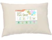 Toddler Pillow With Soft ORGANIC Cotton Shell and Premium Hypoallergenic Fibre. Best Neck Support for Kids ages 2+. Sleep Better in Bed, Nap, Daycare or Travel. Made in the USA by Dreamtown Kids.