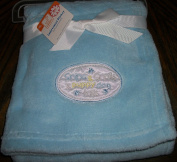 "Soft Blue 80cm x 80cm Embroidery ""Snips and Snails and Puppy Dog Tails"" Baby Boy Blanket"