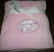 "Fluffy Soft Pink Baby Blanket 80cm x 80cm for Girl Embroidery "" Sugar and Spice and Everything Nice"""
