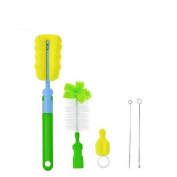 AUCH No Scratch Baby Nursing Bottle Brush Nipple Brush Straw Brush Set