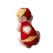 Pinbo Newborn Baby Photography Prop Crochet Knitted Iron Man Hat Cover